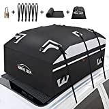 AURELIO TECH 20 Cubic Feet Car Rooftop Cargo Carrier Bag, 100% Waterproof, Anti-Tear 900D PVC Tarpaulin Roof Top Carrier, with Anti-Slip Mat, 6 Door Hooks, Suitable for All Vehicle with/Without Rack