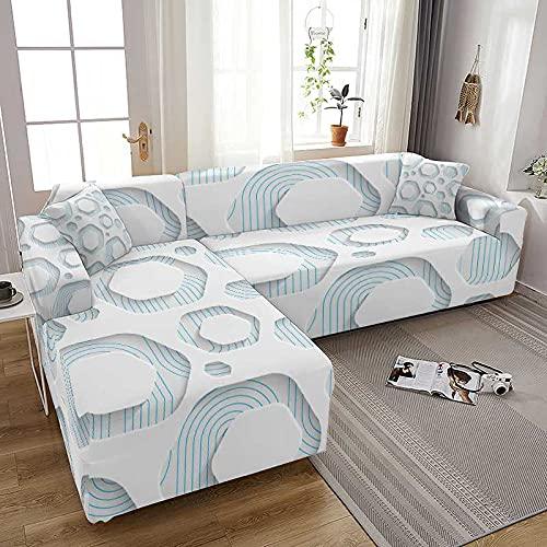 WXQY Funda de sofá elástica con Estampado geométrico, Funda de sofá elástica Todo Incluido, Fundas para sofá, Funda para sillones, Funda A4, 1 Plaza