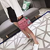 Shoulder Bags Bolso Crossbody Ocasional de la PU del Hombro señoras de Bolso del Mensajero del Bolso con la Felpa de la Bola (Color : Magenta)