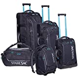 """Stahlsac 34"""" Steel Wheeled Checked Luggage (Black)"""