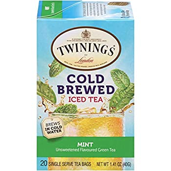 Twinings of London Mint Green Cold Brewed Iced Tea Bags 20 Count  Pack of 6