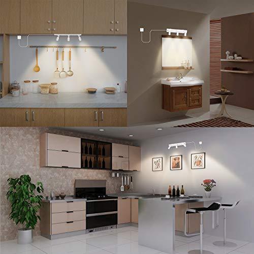 Lithonia Lighting LTKSTBF BR30 DBL M4 Adjustable Decorative 3-Head LED Lamp, 850 Lumens, 120 Volts, Black