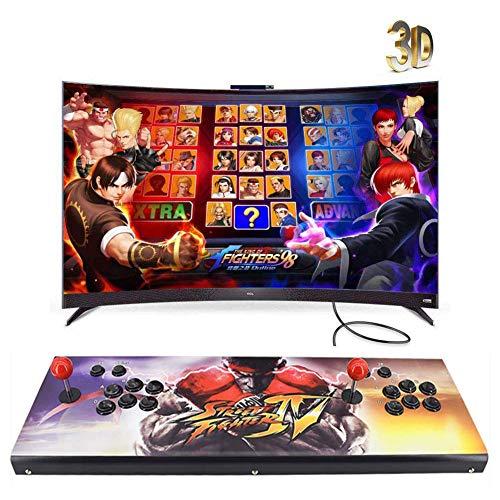 HLLGAME 3D Pandora's Box Home Arcade Game Console, 3160 Classic-Spiele Joystick Spielkonsole, Kundenbezogene Schaltflächen, 1280x720 Full HD, Unterstützt PS3, HDMI und VGA Ausgang, QC02