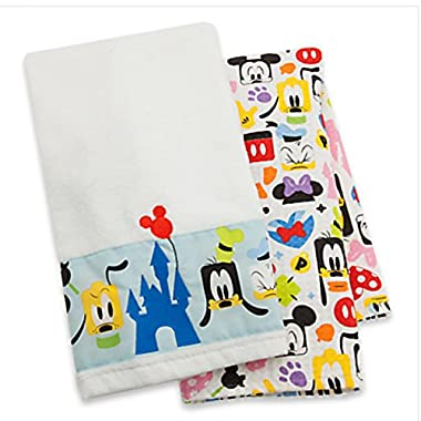 Disney Parks Mickey Mouse and Friends Colorful Kitchen Towel Set of 2 NEW