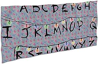 Beach Towel Microfiber 80X130 cm Stranger Letter Things Alphabet Bath Towel