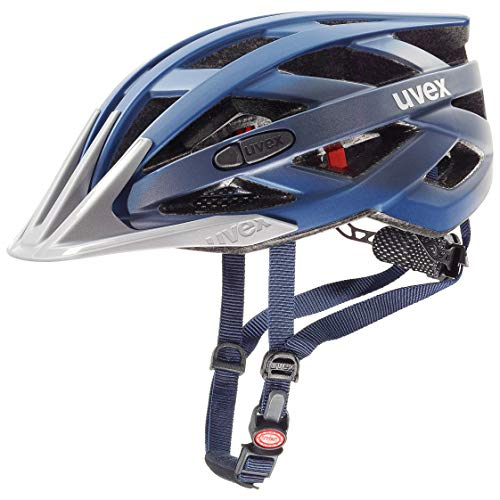 Uvex Unisex– Erwachsene i-vo cc Fahrradhelm, Darkblue Metallic, 52-57 cm