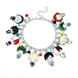 My Hero Academia Bracelet - Anime Cartoon Charm Bracelet Keychain Set Cosplay Props Jewelry Gifts for Anime Fans Women Girls (bracelet 1)