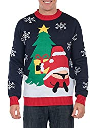 Tipsy Elves Winter Whale Tail Santa Sweater
