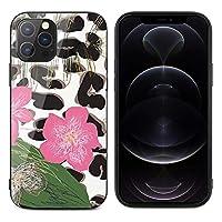 iPhone12miniケース iPhone12ケース iPhone12Proケース iPhone12Promaxケース カバー ヒョウ柄 花柄 保護ケース スマホケース 強化ガラス9H背面 TPUバンパー 互換性がある 衝撃吸収 耐摩擦 滑り防止 脱着簡単 レンズ保護