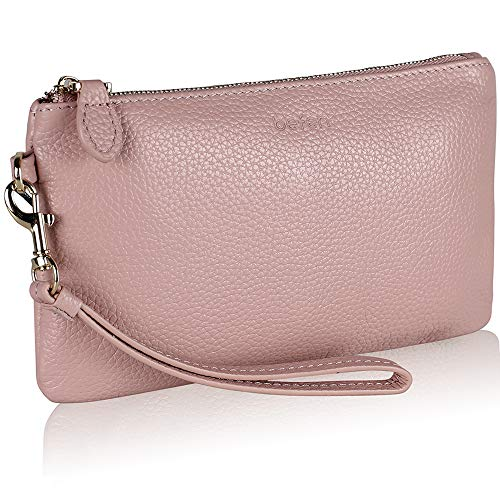 befen   Damen Handgelenkstasche Blush Pink 【100% echtes Leder】 Größe S   Taschen > Handtaschen > Handgelenkstaschen   befen