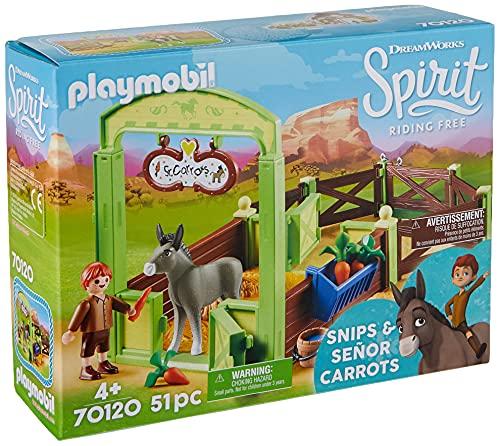 Playmobil - Establo Trasqui y Señor Zanahoria Juego con Accesorios, Multicolor...