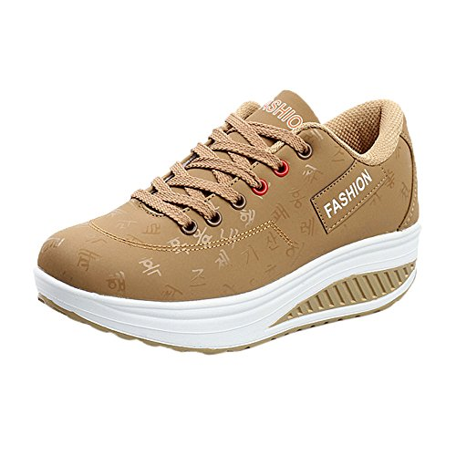 Damen Schuhe, Cramberdy Schuhe Damen Freizeitschuhe Turnschuhe Damen Sneaker Schuhe Sommer Frauen Beiläufige Sport Outdoor Casual Sportschuhe Dicke Sohlen Sneakers Freizeit Laufschuhe