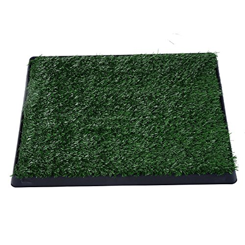 PawHut Indoor Pet Dog Toilet Mat Potty Tray Training Grass Restroom with...
