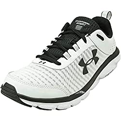 professional Men's Sneakers Under Armor Charged Assert 8, White (102, White, 9.5 US