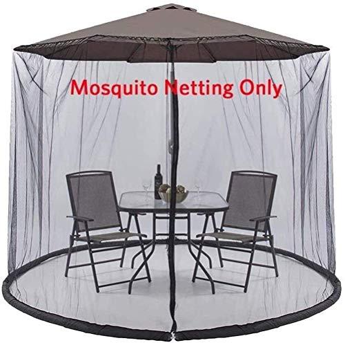 Outdoor-Garten-Regenschirm Ihr Sonnenschirm in einen Pavillon-Sonnenschirm Moskito-Netto-Garten-Regenschirm-Tischschirm, Parasol-Moskitonetz mit Reißverschluss-Tür- und Polyester-Mesh-Netz, geeignet f
