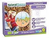 Natural Pharma Labs. Probiótico Ecológico ProImmune. Apoyo para el Sistema Inmunitario. Con Folato. Cápsulas Smart BioCaps®. Sin Gluten, Sin Lactosa, Vegano.