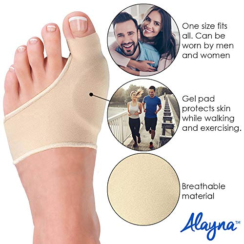 Alayna Bunion Corrector and Bunion Relief Sleeve with Gel Cushion Pads Splint Orthopedic Bunion Protector for...