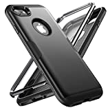 YOUMAKER Designed for iPhone 8 Case & iPhone 7 Case, Full Body Rugged with Built-in Screen Protector Heavy Duty Protection Slim Fit Shockproof Cover for Apple iPhone 8 4.7 Inch - Black