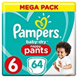 Pampers Baby Dry Pants Couche-Culotte Taille 6 +15 kg Méga Pack x 64 Pièces