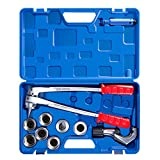CO-Z 7 Level Professional Aluminum Copper Tube Expander Tool Full Set with Tube Cutter & Deburring Tool, 3/8 to 1-1/8 inches