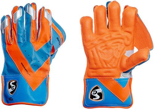 SG Super Club Wicket Keeping Gloves, Men s (Orange Blue)