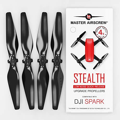 Master Airscrew Verbesserte DJI-Spark-Stealth-Propeller (Schwarz)