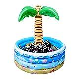 NUOBESTY Dispositivo de refrigeración hinchable de Palma, diseño de playa, decoración para fiestas al aire libre, estilo hawaiano, soporte para bebidas para piscina con agua bar que sirve para