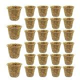 QPY Kits de macetas de turba de 25 Piezas, macetas de Inicio de Semillas, macetas de vivero biodegradables ecológicas para Plantas de Inicio de Plantas caseras