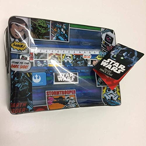 Star Wars Rogue 1 Filled Pencil Case - Pen, Sticker Sheets, Eraser, Sharpener, Colouring Pencils and 15cm Ruler.