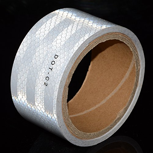 White DOT-C2 Conspicuity Reflective Tape - 2 inches X 20 feet