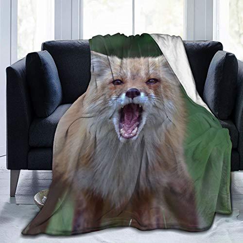 Colorful products Manta de forro polar de 127 x 152 cm – Fox Fox Maybe Trap Home franela suave y cálida manta de felpa para cama/sofá/oficina/camping