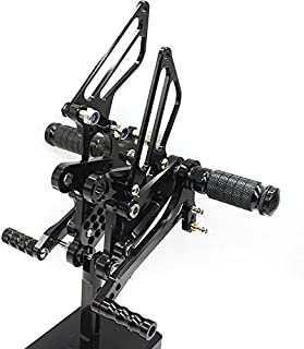 Krace Motorcycle Rearsets Foot Pegs Rear Set Footrests Brake Shift Pedals Fully Adjustable Foot Boards Fit For Kawasaki Ninja ZX6R ZX636 2009 2010 2011 2012 2013 2014 2015 2016 2017 2018 2019