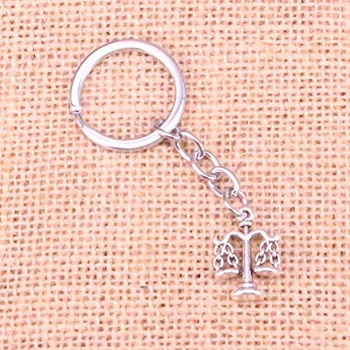 TAOZIAA Weegschaal van rechtvaardigheid Charm Hanger Sleutelhanger Sleutelhanger Ring Ketting Accessoires Sieraden Maken Voor Geschenken