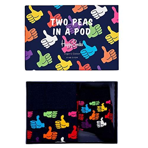 4//7 Happy Socks Mom Sock Calze Multicolore Multicolour 730 Taglia Unica: 36-40 Donna