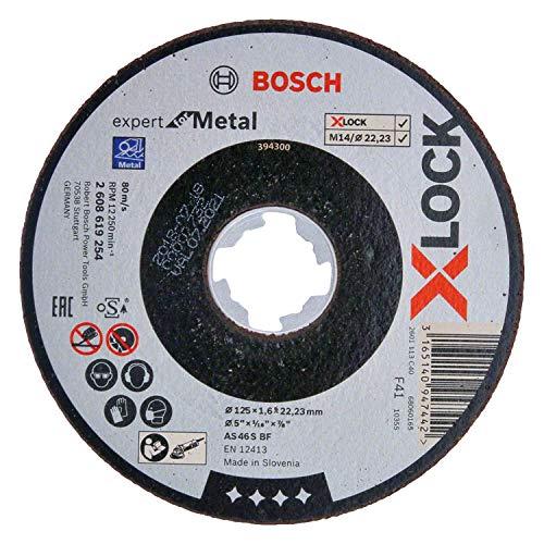 Bosch Professional gerade Trennscheibe Expert (für Metall, X-LOCK, Ø125 mm, BohrungsØ: 22,23 mm, Dicke:1,6 mm)