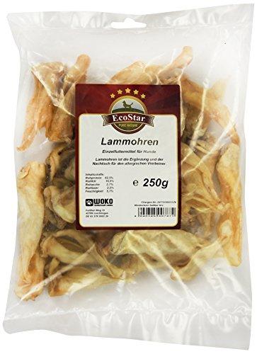 EcoStar Hunde Snack Lammohren 250g, 1er Pack (1 x 250 g)