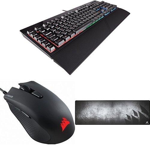 Corsair K55 Gaming Tastatur + HARPOON RGB Optisch Gaming Maus + MM300 Gaming Mauspad
