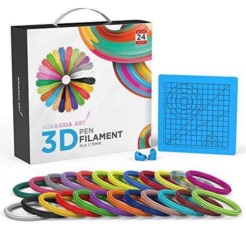 Ataraxia Art 3D Pen Filament V2 (5m Lengths (16.4 ft), Blue Mat)