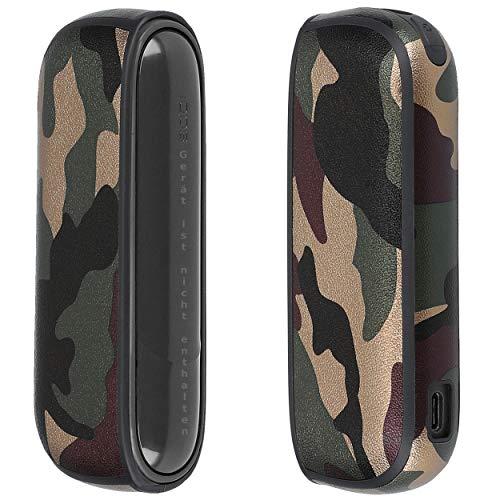 mumbi Hülle kompatibel mit IQOS 3/3 Duo Case Schutzhülle Tasche, Camouflage grün braun
