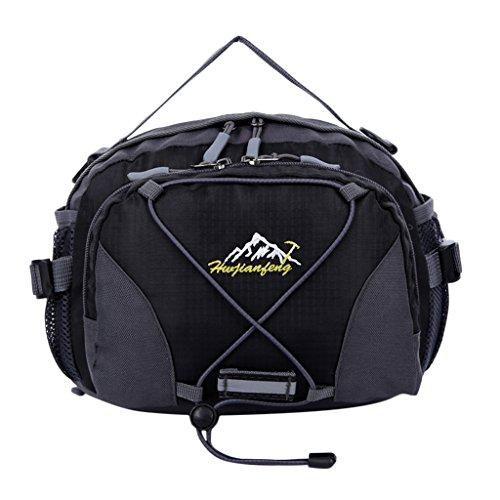 Multi-fonction Unisexe Pack Escalade Voyage Sacs Banane Sport - Noir, 28 * 20 * 12cm