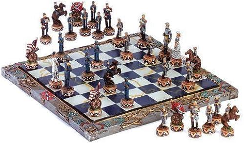 Ahorre 60% de descuento y envío rápido a todo el mundo. Civil War Soldier Theme Chess Board And And And Game Piece Set by ABVG  barato y de moda