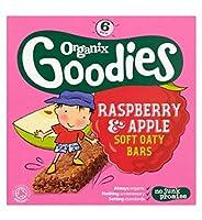 Organix Goodies Organic Raspberry & Apple Soft Oaty Bars 6 x 30g (Pack of 2) - Organixは6×30グラムの有機ラズベリー&リンゴソフトOatyバーグッズ (Organix) (x2) [並行輸入品]