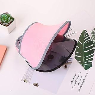 JUNword Hombres Mujeres Protección Solar al Aire Libre Sombreros para el Sol Cubierta Anti-UV de la Bicicleta Cara Doble Visores de Lentes Viajando Gorras de Playa,Pink