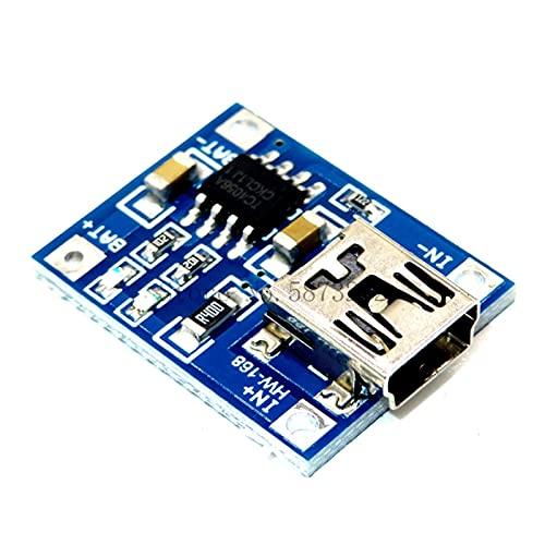 ZRYYD TP4056 mit Schutz Doppeltfunktionen 5V 1A Mini Micro Type-C USB 18650 Lithium-Batterie-Ladetrat-Ladegerät-Modul 1A Li-Ion (Color : TP4056 USB)