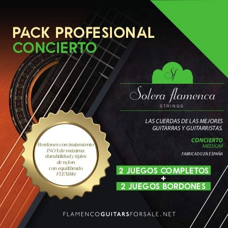PACK PROFESIONAL «concierto» Solera Flamenca STRINGS (2 sets completos + 2 sets bordones)