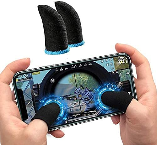MOBWILL D007 Pubg Anti-Slip Thumb Sleeve, Increase Your Gaming Score Slip-Proof Sweat-Proof Professional Touch Screen Thumbs Finger Sleeve for Pubg Mobile Phone Game Gaming