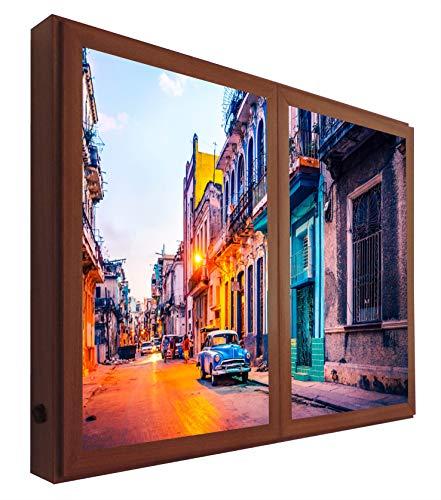 CCRETROILUMINADOS Cuba Cuadros Decorativos Ventanas Falsas c