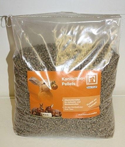 BASU Kaninchenpellets ohne Kokzidiostatika Kaninchen Futter Pellets ohne Kok 7 kg