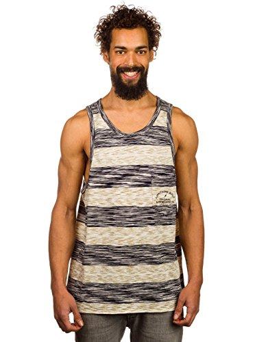 L.Bolt Twin Stripe S.D. Pocket Moonless Night T-Shirts à Manches Courtes pour Homme, Noir, M