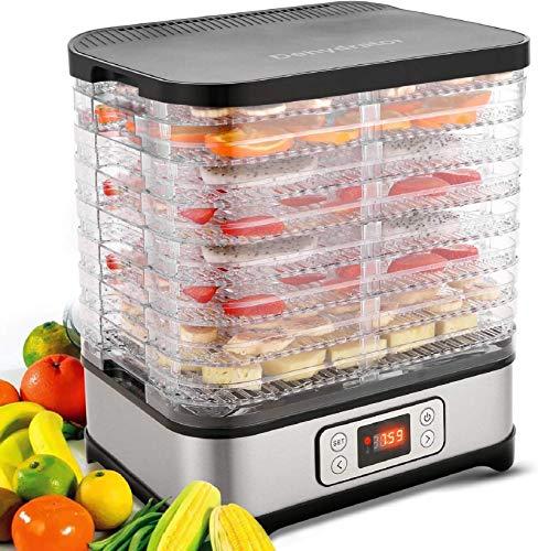 Hopekings Déshydrateur Alimentaire 5 Plateaux, Déshydrateur Électrique Pour Fruits, Légumes et Viandes, Thermostat Réglable 35°C-70°C, 250W